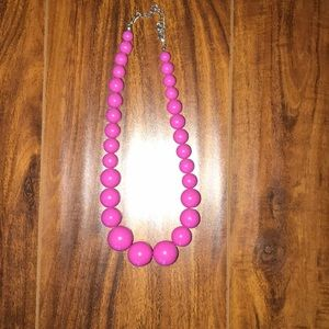 Pink large beads necklace